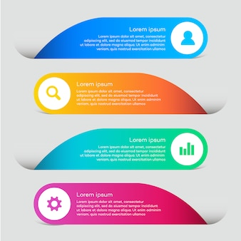 Business-Web-Elemente mit infografischem Design