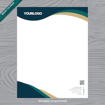 Business weißes Papier mit Logo