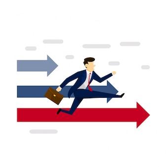 Business-Wettbewerb Konzept Illustration