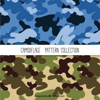 Camouflage-Muster eingestellt