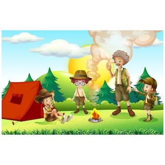 Camping Hintergrund Design