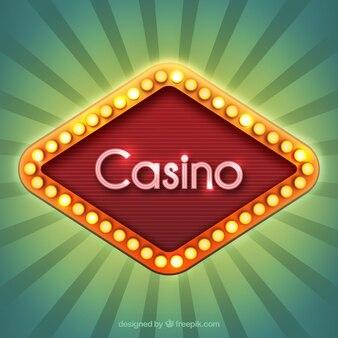 Casino Schild mit Lichter