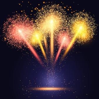 Celebration Hintergrund mit bunten Feuerwerk