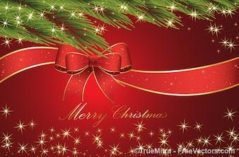 Christmas ribbon mit Niederlassungen