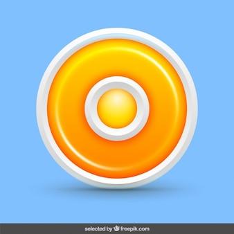 Circular orange Knopf