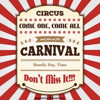 Circus Abzeichen im Retro-Stil