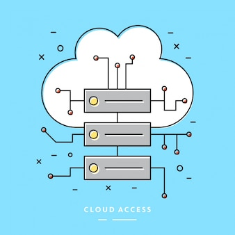 Cloud Access Lineares Vektor Element