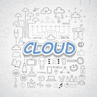 Cloud-Elemente Illustration