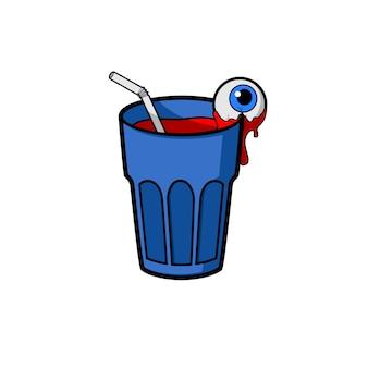 Cocktail Roter Todetrinken mit Auge