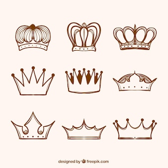 Collection of crown Skizzen