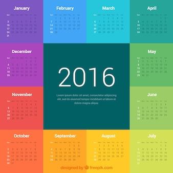 Colorful 2016-Kalender