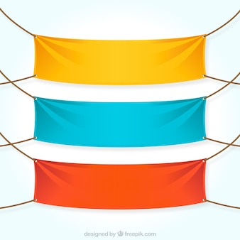 Colorful textile Banner