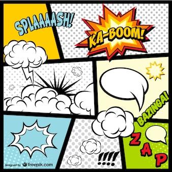 Comic-Elemente einer Seite kostenlos herunterladen