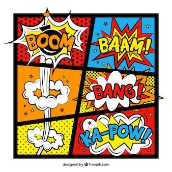 Comic-Vorlage, farben