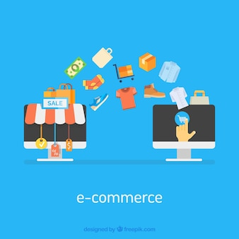 Computer-Bildschirme und Einkäufe