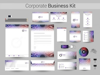 Corporate Business Kit mit Lichteffekt.