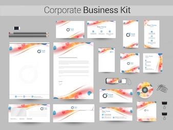 Corporate Business Kit mit Wellen und Herz.
