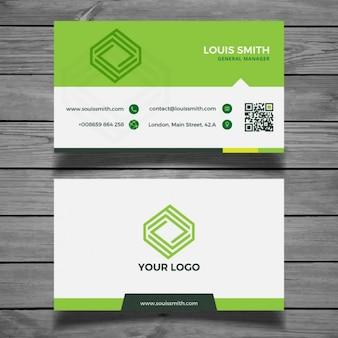 Corporate-grüne Visitenkarte