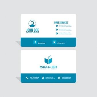 Corporate-Visitenkarte-Schablone