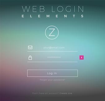 Creative Web-Login-Vorlage