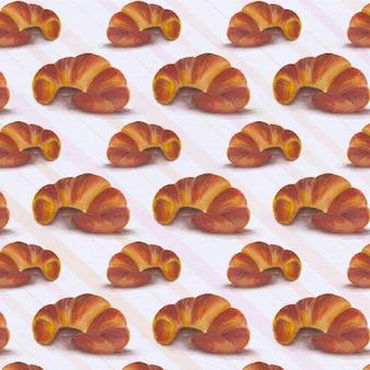 Croissant Muster Hintergrund