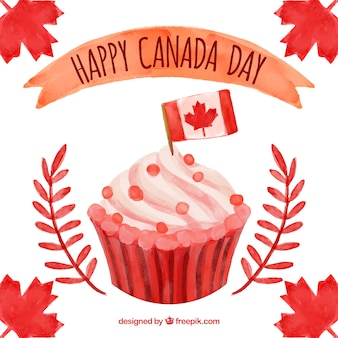 Cupcake Hintergrund für Kanada Tag