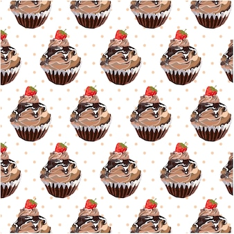 Cupcake Muster Hintergrund