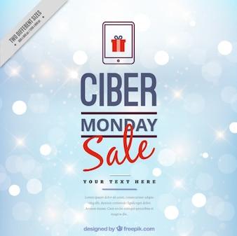 Cyber Montag Hintergrund mit Bokeh-Effekt