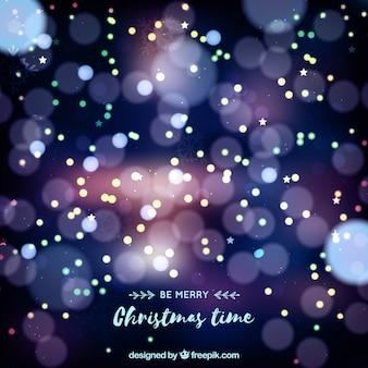 Defokussiert Weihnachten Bokeh Hintergrund