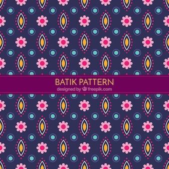 Dekorative Blumenmuster in Batikart
