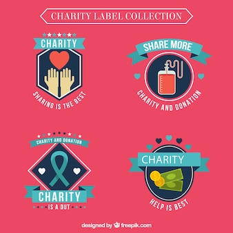 Dekorative Charity-Label-Kollektion