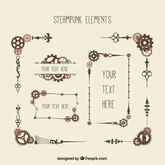 Dekorative Elemente in Steampunk-Stil