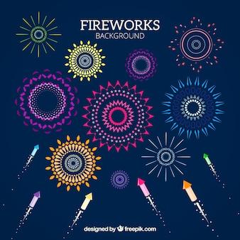 Dekorative Feuerwerk Hintergrund