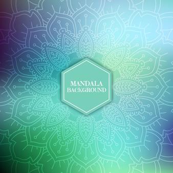 Dekorative Hintergrund mit einem Mandala-Design