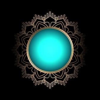 Dekorative Hintergrund mit Mandala-Stil Rahmen