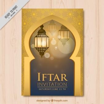 Dekorative Iftar Einladung
