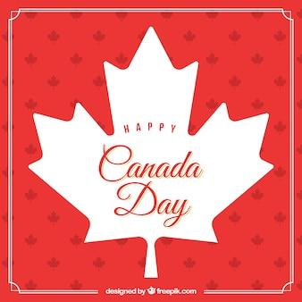 Dekorative kanada Tag Hintergrund mit weißen Blatt