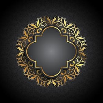 Dekorative Luxus-Hintergrund mit Goldrahmen