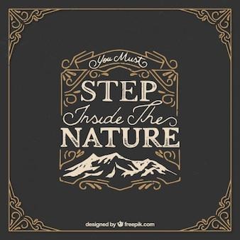 Dekorative Natur Zitat