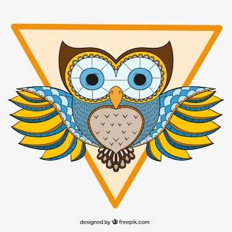 Dekorative owl mit Dreieck