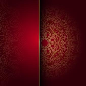 Dekorativer Hintergrund mit einem Mandala-Design