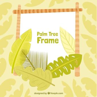 Dekorativer Rahmen mit Palmblättern