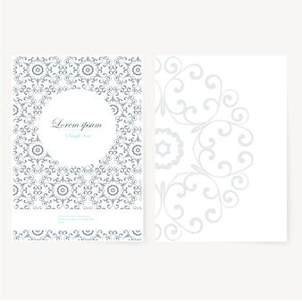 Dekoratives Blatt Papier mit orientalischem Design