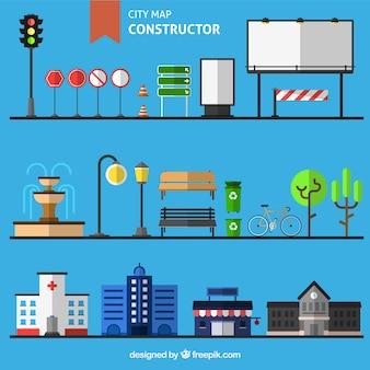 Der Aufbau einer Stadtkarte