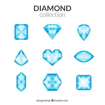 Diamanten in verschiedenen Formen Sammlung
