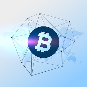 Digitale bicoins währung vektor hintergrund