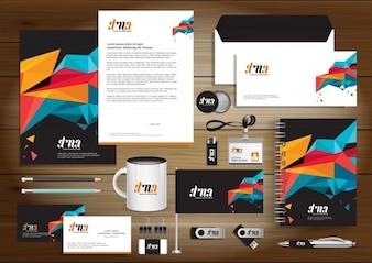 Digitale Technologie Corporate Identity, Geschenkartikel Vorlage Design mit Link gesetzt Konzept Element. Business-Technologie Schreibwaren Vektor Textur Papier Design