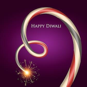 Diwali festival cracker design art