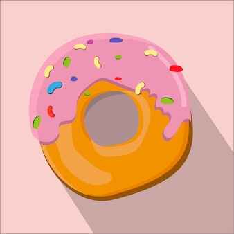Donut isoliert flachen Stil Vektor-Illustration.