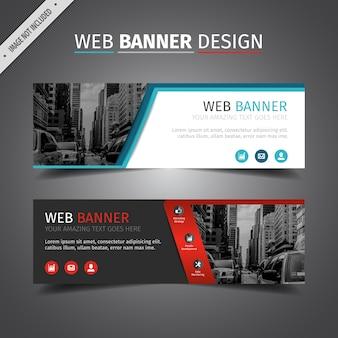 Doppelte Web-Banner-Design